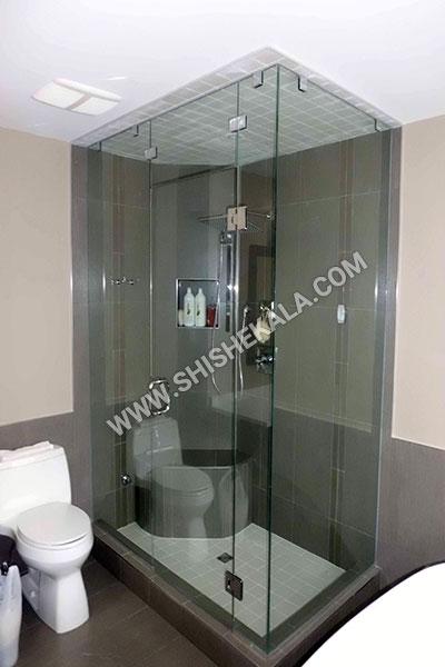 شیشه دور دوشی | حمام شیشه ای