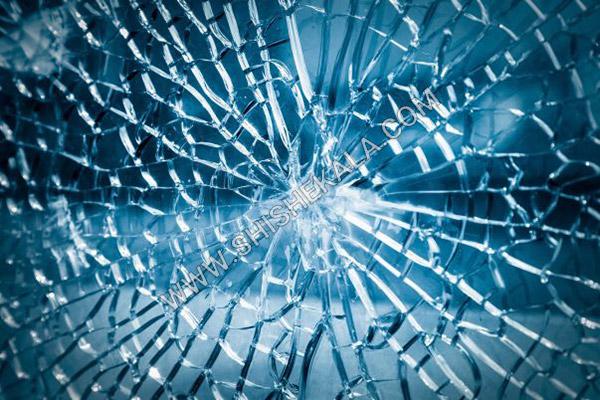 شکست شیشه لمینیت