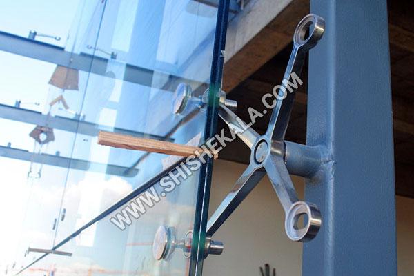 شیشه اسپایدر | نمای شیشه سکوریت لمینیت